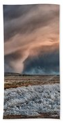 Winter Storm Beach Towel by Cat Connor