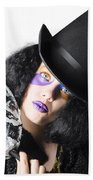 Woman With Mask Beach Towel