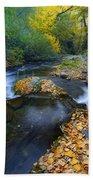 Yellow Autumn Beach Towel