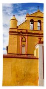 Yellow Colonial Church Beach Towel