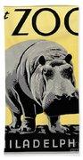Zoo Poster C1936 Beach Towel