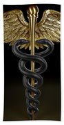 Caduceus Beach Towel