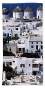 Mykonos Town Beach Towel