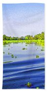 Ripples On The Saltwater Lagoon Beach Towel