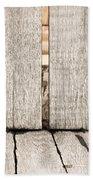Wood Background Beach Towel