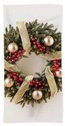 Advent Christmas Wreath  Beach Towel