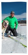Colorado Cross Country Skiing Beach Towel