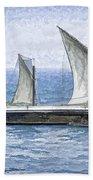 Fishing Vessel In The Arabian Sea Beach Towel