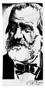 Giuseppe Verdi (1813-1901) Beach Towel