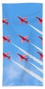 Red Arrows Beach Towel