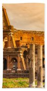 The Majestic Coliseum - Rome Beach Towel