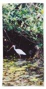 White Ibis Beach Towel