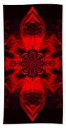 1107 - Mandala Red   Beach Towel