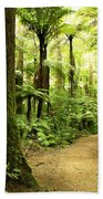 Forest Beach Towel by Les Cunliffe