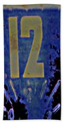 12 In  Blue Beach Towel