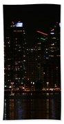 San Diego Skyline Night Beach Towel
