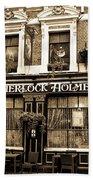 The Sherlock Holmes Pub  Beach Towel
