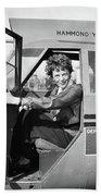 Amelia Earhart (1897-1937) Beach Towel