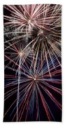 Local Fireworks Beach Towel by Mark Dodd