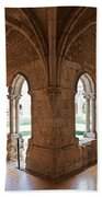 13th Century Gothic Cloister Beach Towel