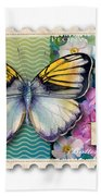 14 Cent Butterfly Stamp Beach Towel