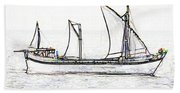 Fishing Vessel In The Arabian Sea Beach Towel