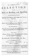 Noah Webster (1758-1843) Beach Sheet