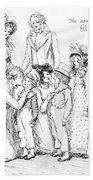 Scene From Pride And Prejudice By Jane Austen Beach Sheet