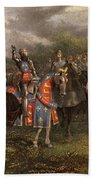 1400s Henry V Of England Speaking Beach Towel
