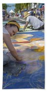 Lake Worth Street Painting Festival Beach Towel