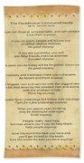 159- The Paradoxical Commandments Beach Towel