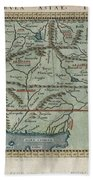 1597 Ptolemy  Magini  Keschedt Map Of Pakistan Iran And Afghanistan Beach Towel by Paul Fearn