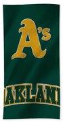 Oakland Athletics Beach Towel
