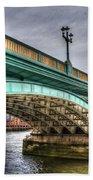 Southwark Bridge London Beach Towel