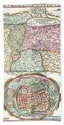 1632 Tirinus Map Of The Holy Land Beach Towel