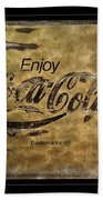 Coca Cola Sign Grungy Retro Style Beach Towel