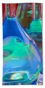 Laboratory Glassware Beach Towel by Charlotte Raymond