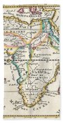 1710 De La Feuille Map Of Africa Beach Towel