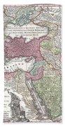 1730 Seutter Map Of Turkey Ottoman Empire Persia And Arabia Beach Towel