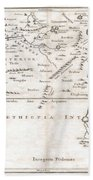 1730 Toms Map Of Central Africa Beach Towel