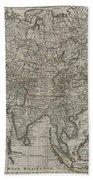 1745 Asia Map Beach Towel