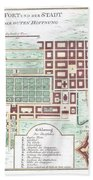 1750 Bellin Map Of Cape Town South Africa Beach Towel