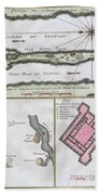 1750 Bellin Map Of The Senegal Beach Towel
