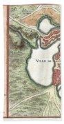 1756 Bellin Map Of Boston Massachusetts Beach Towel