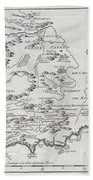 1757 Bellin Map Of South Africa And The Cape Of Good Hope Beach Towel by Paul Fearn