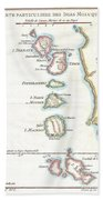1760 Bellin Map Of The Moluques Beach Towel