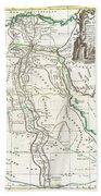 1762 Bonne Map Of Egypt  Beach Towel