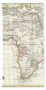 1762 Janvier Map Of Africa Beach Towel