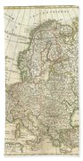 1762 Janvier Map Of Europe  Beach Towel