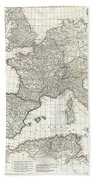 1763 Anville Map Of The Western Roman Empire Beach Towel